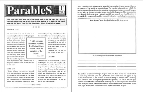 an analysis of paper on parables Analyzing the parable of the prodigal son the parable of the prodigal son is a well-known story from the bible, of a disobedient son's return home and his father accepting him back the father's older son on the other hand feels differently about his brother's return.